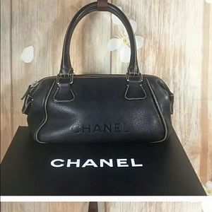 Chanel Authentic Black Leather Bag